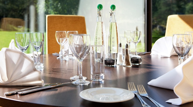 Stylish gourmet hotel restaurant at Quality Mastemyr Hotel in Kolbotn