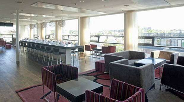 Enjoy the amazing view from the top floor restaurant at Quality Hotel Frederikstad