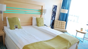 Bright and trendy double hotel room at Quality Hotel Frederikstad
