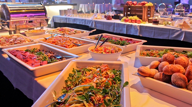 Fresh and tasteful salad buffet at Quality Hotel Friends in Solna