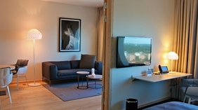 Elegant and stylish suite at Quality Hotel Friends in Solna