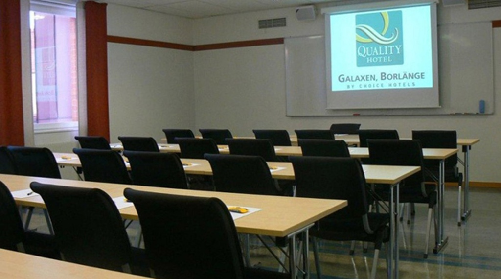 Modern conference room at Quality Galaxen Hotel in Borlange