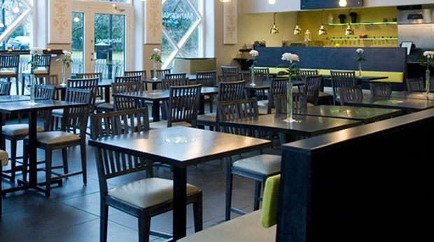 Spacious hotel restaurant at Quality Galaxen Hotel in Borlange