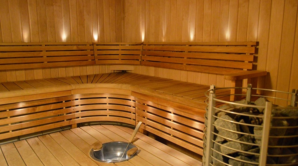 Mens sauna in the relaxation area at Quality Hotel Galaxen in Borlänge