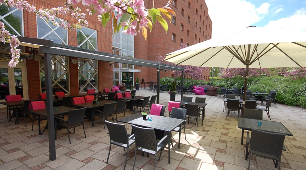 Spacious outdoor area at Quality Galaxen Hotel in Borlange