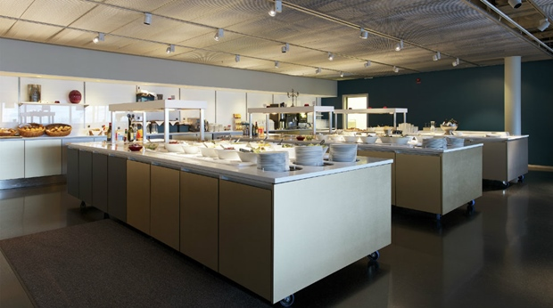Buffet in the Ericsson Globe arena at the Quality Globe Hotel in Stockholm