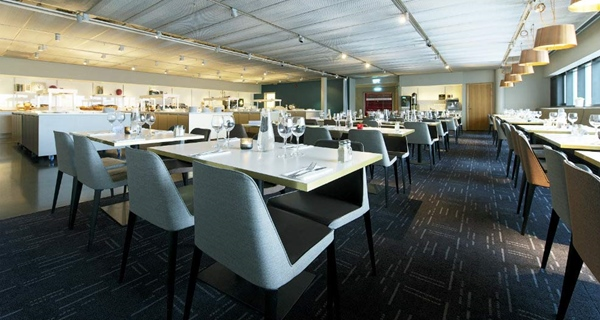 Buffet restaurant in the Ericsson Globe arena at Quality Globe Hotel in Stockholm