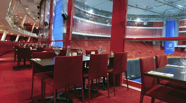 Ericsson Globe arena lounge with the perfect view at Quality Globe Hotel in Stockholm