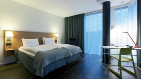 Spacious and comfortable hotel room at Quality Globe Hotel in Stockholm
