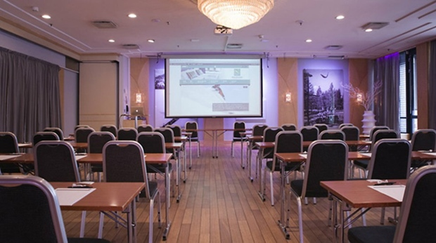 Modern and well-equipped conference room at Quality Grand Hotel Kongsberg