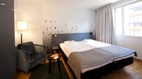Hip standard twin hotel room at Quality Grand Hotel Kristianstad