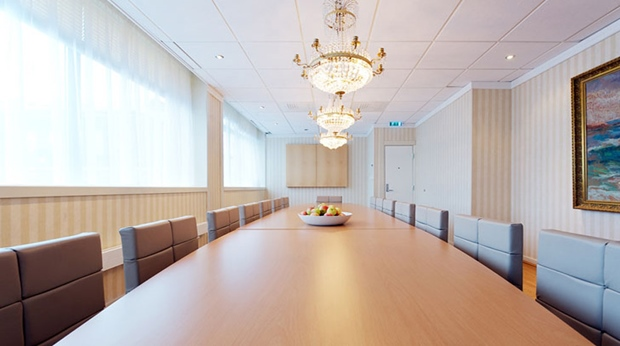 Elegant executive style meeting room at Quality Grand Hotel in Kristiansund
