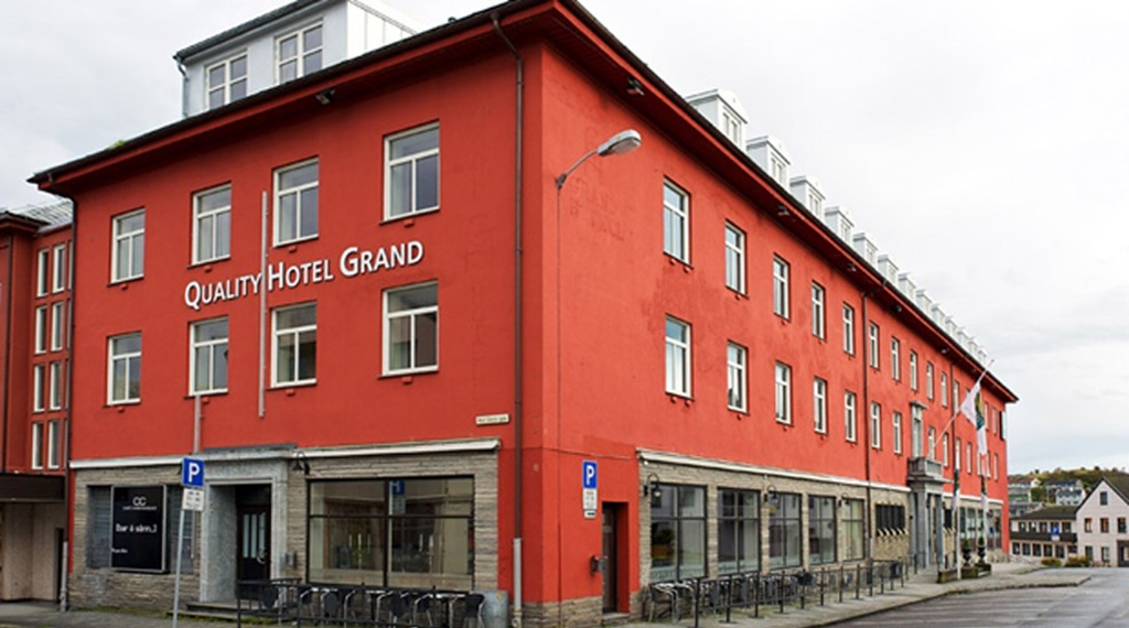 The hotel facade of the Quality Grand Hotel in Kristiansund