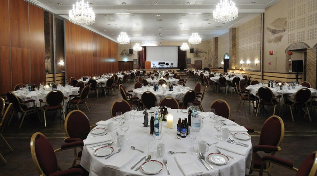 The Royal Hall capable of seating 320 people for banquets at Quality Grand Hotel in Narvik
