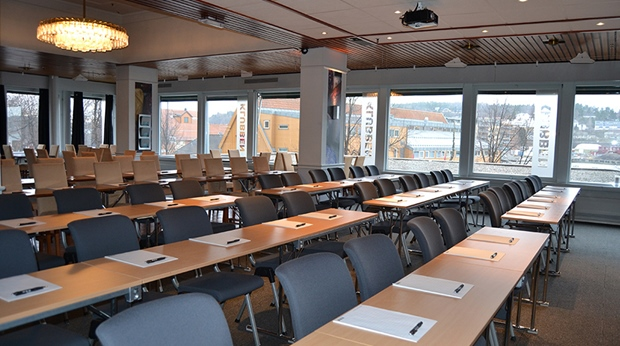 Modern conference room facility at Quality Klubben Hotel in Tonsberg