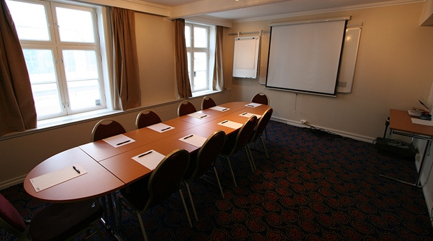Meeting room ideal for workshops at Quality Klubben Hotel in Tonsberg