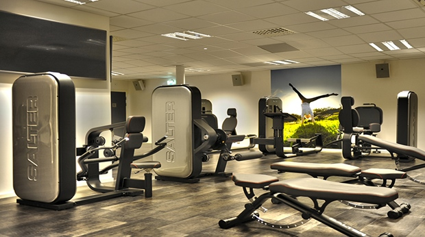 Modern and remarkably well-equipped gym at Quality Lapland Hotel in Gallivare