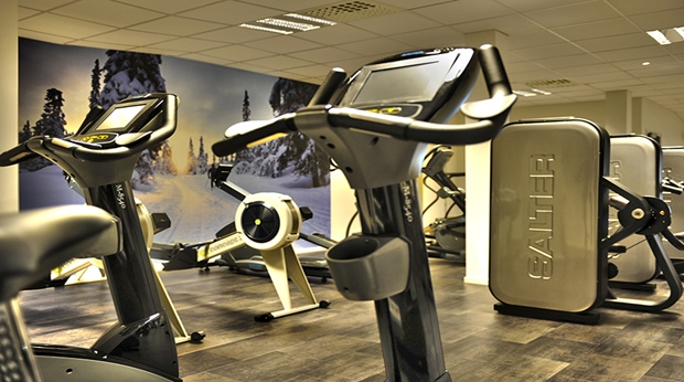 Modern and well-equipped hotel gym facilities at Quality Lapland Hotel in Gallivare
