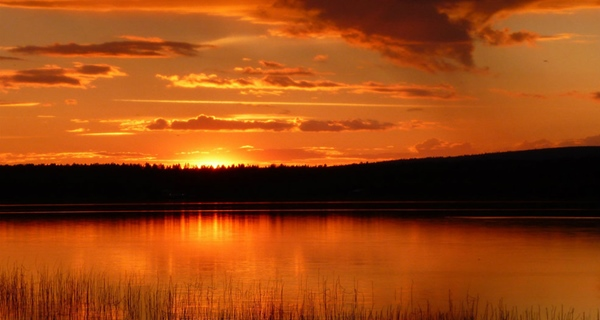 One of the most beautiful sunset locations at Quality Lapland Hotel in Gallivare