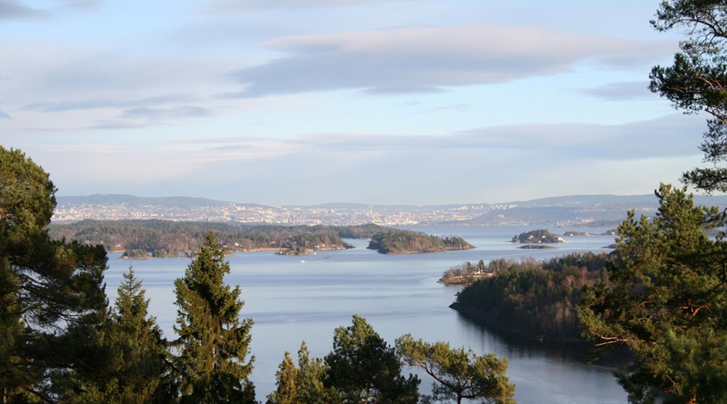 An unforgettable panoramic view of the Oslofjord from the Quality Leangkollen Hotel in Asker