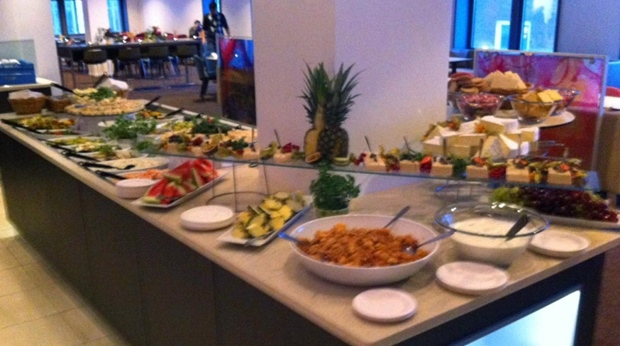 The extensive hotel buffet in Restaurant Q at Quality Hotel Lulea