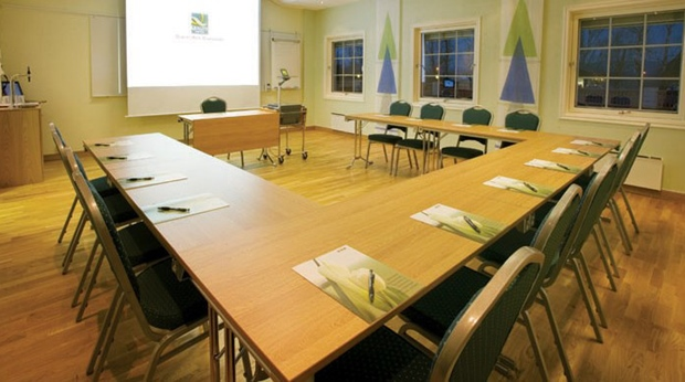 Modern hotel conference room at Quality Olavsgaard Hotel in Skjetten