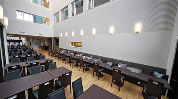 The distinctive buffet hotel restaurant at Quality Saga Hotel in Tromso