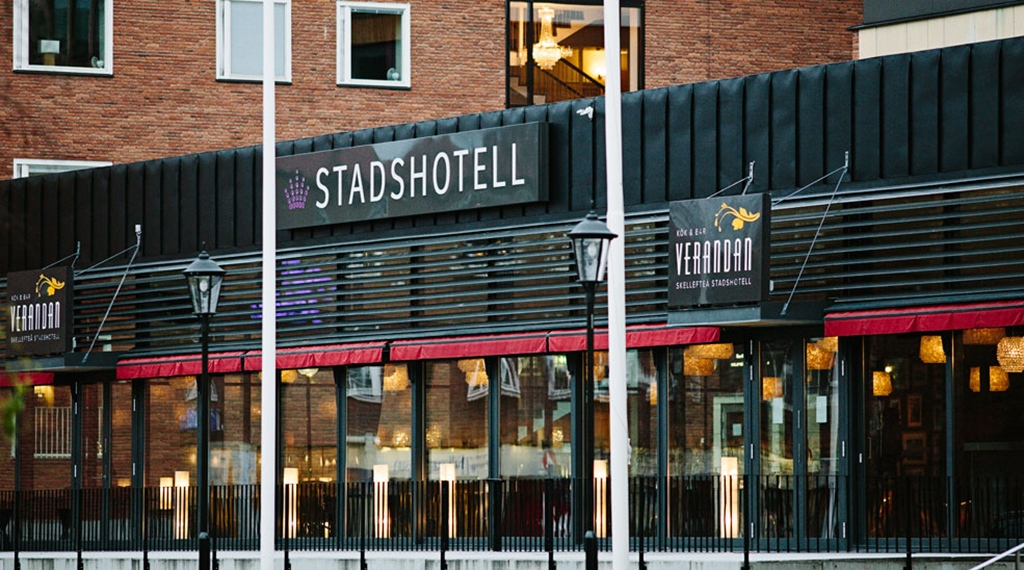 The restaurant facade at Quality Stadshotell Hotel in Skelleftea