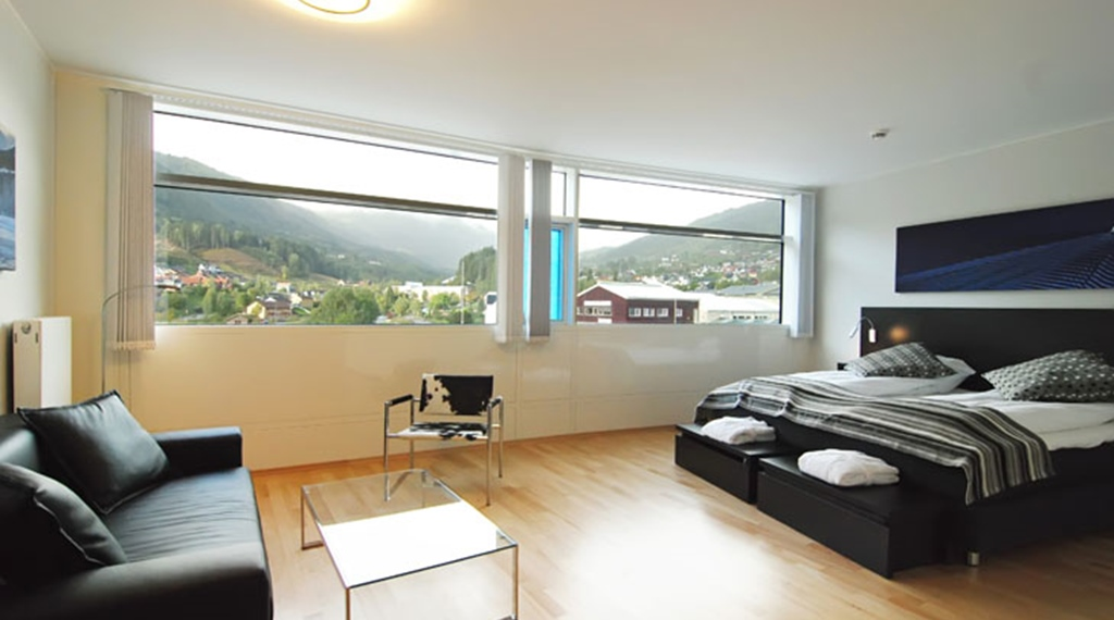 Remarkable well-furnished deluxe double hotel room with a nice view at Quality Hotel Sogndal