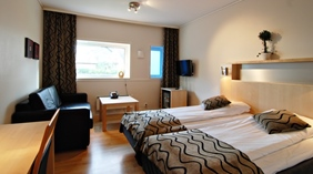 Comfortable superior family room with two single beds at Quality Hotel Sogndal