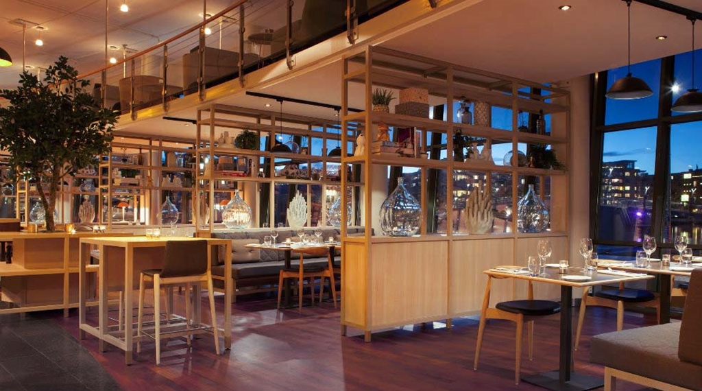 The hip and elegant Brasserie X restaurant at Quality Tonsberg Hotel