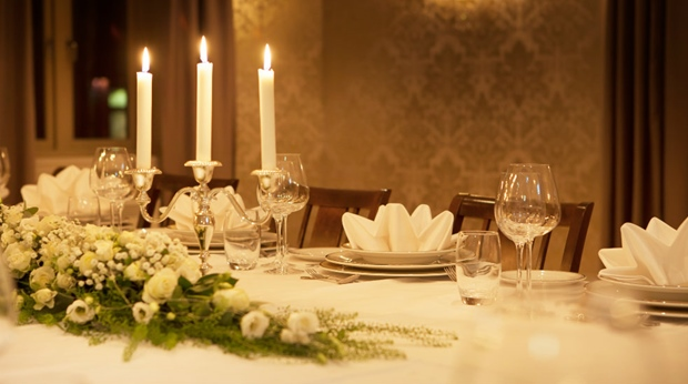 The neat and classy Foystuene hotel restaurant at Quality Tonsberg Hotel