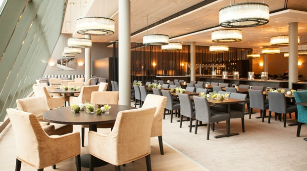 The stylish and well-designed Restaurant Lindahl at Quality Tonsberg Hotel