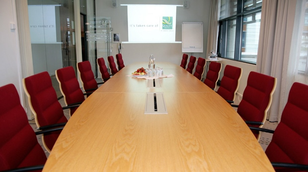 State of the art Grasoy conference room with space for 18 people at Quality Ulstein Hotel in Ulsteinvik