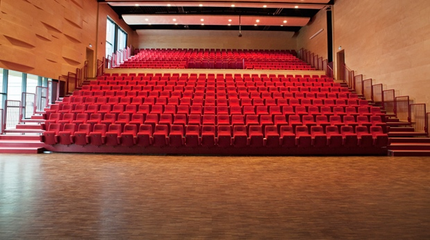 The Biosal cinema capable of seating 119 people at Quality Ulstein Hotel in Ulsteinvik
