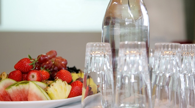 Fresh fruit and berries served as conference refreshments at Quality Ulstein Hotel in Ulsteinvik