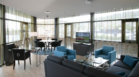 Distinctive double hotel suite with an astonishing panoramic view at Quality Ulstein Hotel in Ulsteinvik