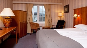 Elegant double room with a nice view at Quality Voringfoss Hotel in Eidfjord