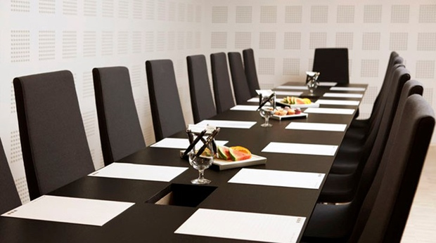 Executive-style meeting room at Quality Waterfront Hotel in Alesund