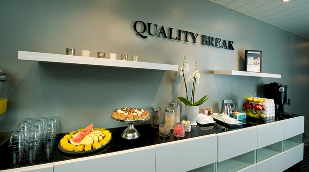 Delicious cake is always part of the Quality Breaks at Quality Winn Hotel in Goteborg