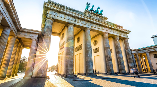 Walk around the majestic Brandenburger Gate in Berlin