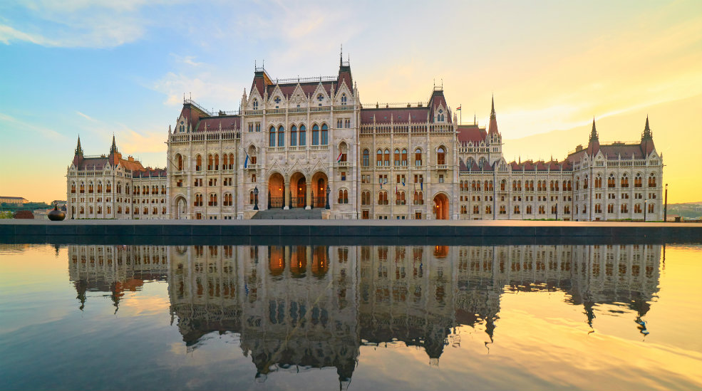 See the beautiful architecture of the Hungarian Parliament Building in Budapest
